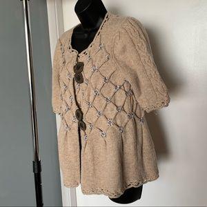 Anthropologie Sweaters - NWOT Anthro Leifsdottir big brown button cardigan